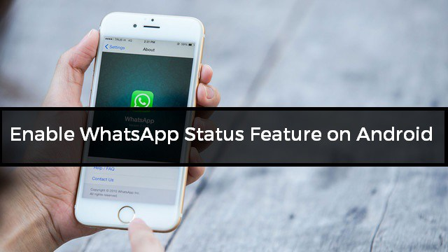 How to Enable WhatsApp Status Feature on Android - WA Tweaker