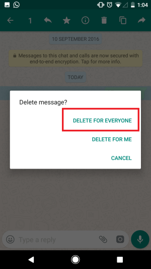 Enable WhatsApp Revoke Message Feature